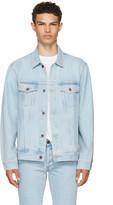 Off-White Blue Oversized Denim 'Not Real' Angel Jacket