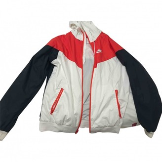 Nike White Synthetic Jackets