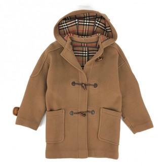 Burberry Beige Wool Coat for Women Vintage