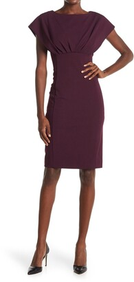 Calvin Klein Dolman Sleeve Empire Waist Sheath Dress