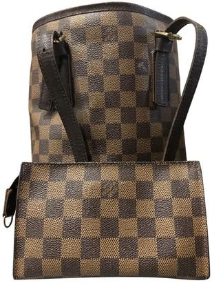 Louis Vuitton Bucket Beige Cloth Handbags