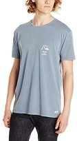 Quiksilver Men's Garment Dyed Short Sleeve Bridge Brand T-Shirt