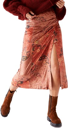 Free People Romano Midi Skirt