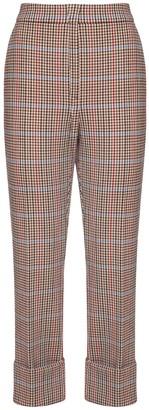 Sportmax Check Wool Blend Pants