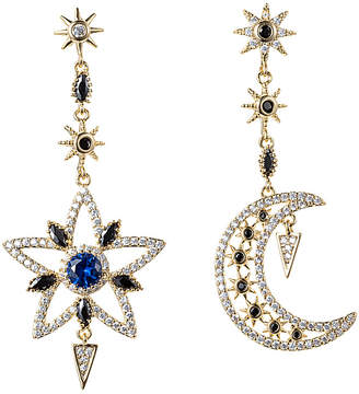 Eye Candy Los Angeles Eye Candy La Sun And Moon Cz Crystal Drop Earrings