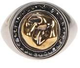 Alexander McQueen Brass Ring With Swarovski Crystals