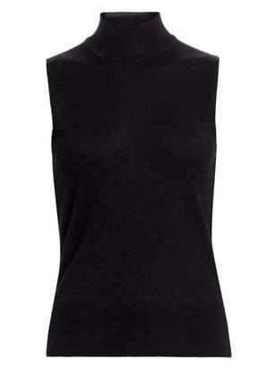 Saks Fifth Avenue Sleeeveless Mockneck Cashmere Knit