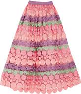 Alexis Britani guipure lace midi skirt