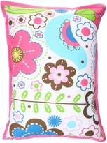 Bacati Botanical Sanctuary Multicolor Floral Print Decorative Pillow2