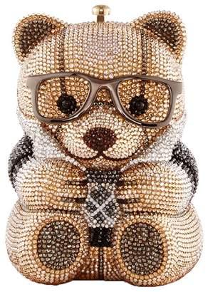 Judith Leiber crystal teddy bear clutch