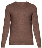 A.p.c. Crew Neck Cotton-blend Sweater