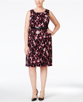 Kasper Plus Size Jacquard Printed Sheath Dress