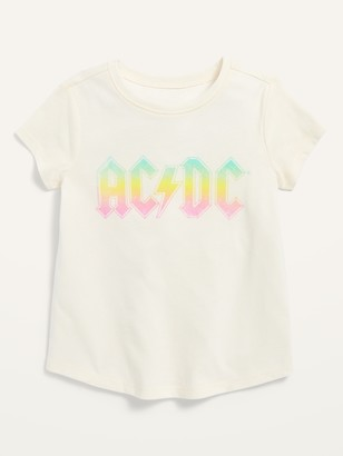 Old Navy Unisex AC/DC Graphic Short-Sleeve Tee for Toddler