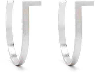 HSU JEWELLERY LONDON Unfinishing Line medium hoop earrings