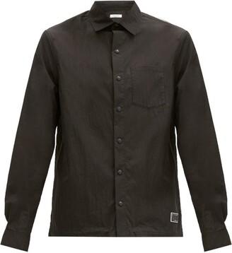 Valentino Rubber Logo-patch Cotton-blend Poplin Shirt - Black