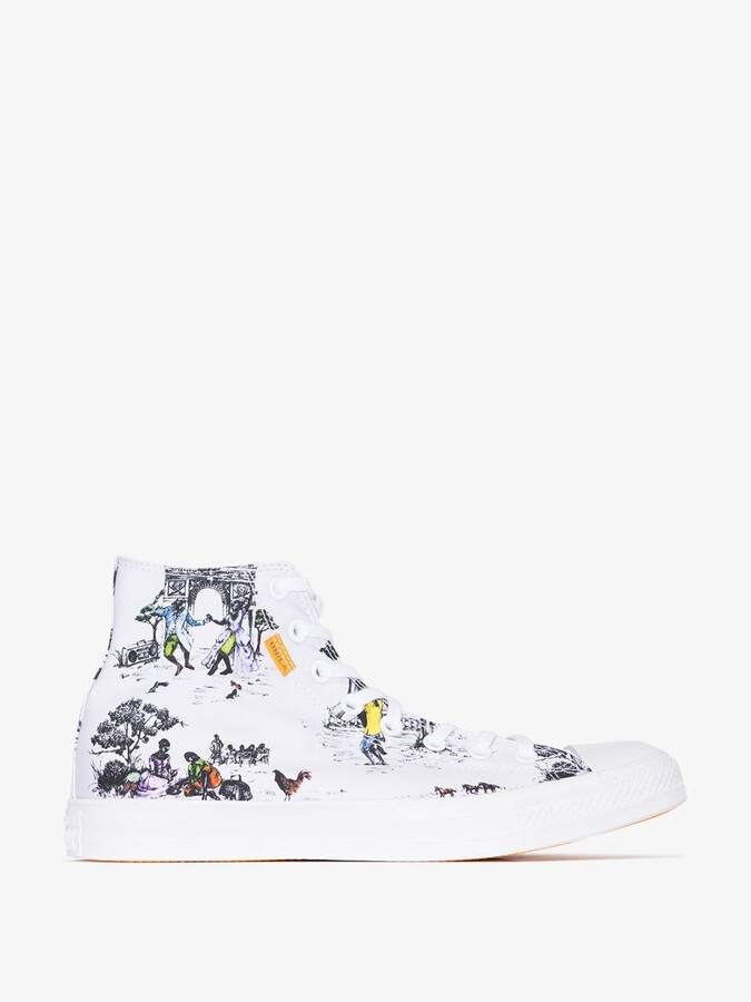 Thumbnail for your product : Converse White X Union Chuck Taylor All Star High Top Sneakers