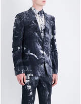 Alexander McQueen Raven printed single-breasted wool-blend jacket