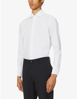 SLOWEAR Regular-fit cotton-pique shirt