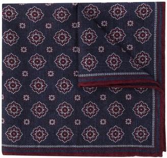 Eleventy Tile-Print Pocket Square