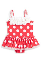 Little Me Big Dot One-Piece Swimsuit (Baby Girls)