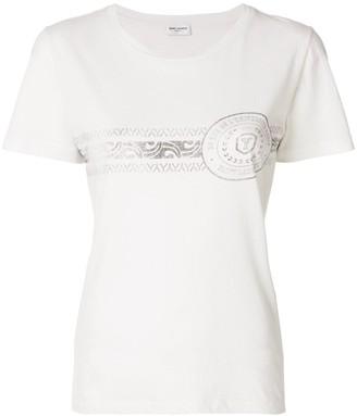 Saint Laurent graphic-print short-sleeve T-shirt