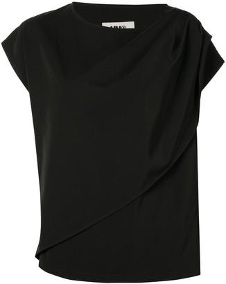 MM6 MAISON MARGIELA asymmetric sleeve T-shirt