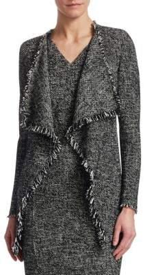 Akris Punto Tweed Waterfall Cardigan