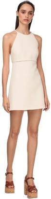 Miu Miu Tricot Mini Dress W/imitation Pearls