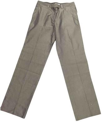 Maison Margiela Grey Cotton Trousers