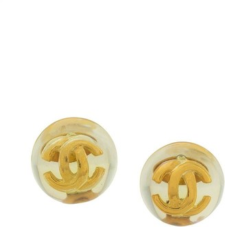 Chanel Pre Owned 1986-1992 CC clip-on earrings