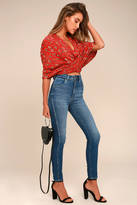Rollas Eastcoast Ankle Dark Blue High-Waisted Skinny Jeans