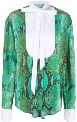 MSGM Snakeskin Print Shirt