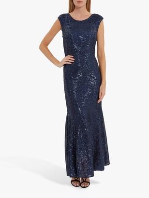 Gina Bacconi Basanti Embellished Maxi Dress