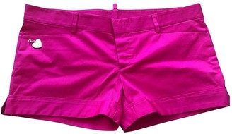 DSQUARED2 Pink Cotton - elasthane Shorts for Women