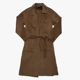 Oakwood Firenze Khaki Wool Longline Coat