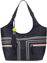 Tory Sport Coated Bucket Tennis Tote Bag, Blue