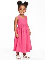 Old Navy V-Back Gauze Maxi Dress for Toddler Girls