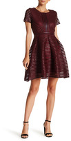 Romeo & Juliet Couture Short Sleeve Organza Woven Dress