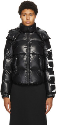 Valentino Black Down VLTN Puffer Jacket