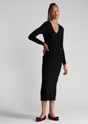 Ralph Lauren Cashmere V-Neck Dress