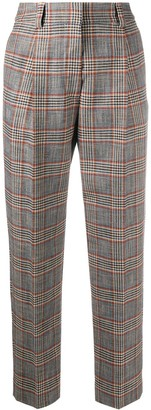 See by Chloe Checked Straight-Leg Trousers