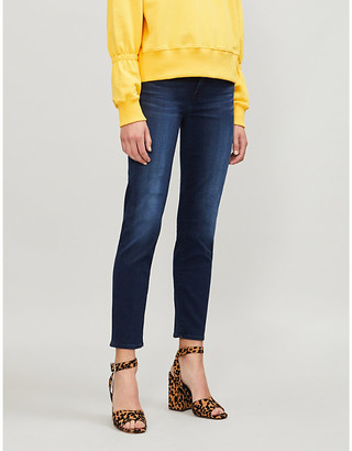 7 For All Mankind Roxanne Crop Bair slim mid-rise stretch-denim jeans