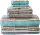 JCP HOME JCPenney HomeTM 6-pc. Farmhouse Stripe Bath Towel Set