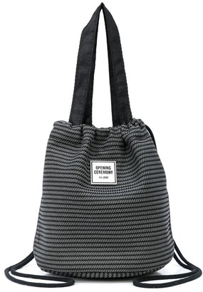 Opening Ceremony Circular Mesh bucket bag