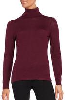 Lord & Taylor Petite Merino Wool Turtleneck Sweater