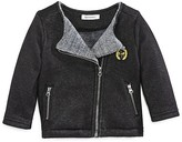 3 Pommes Infant Girls' Faux Fur Lined Moto Jacket - Sizes 3-24 Months