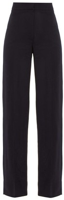 Jacquemus Costume High-rise Wool Trousers - Womens - Navy