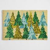 World Market Green Trees Holiday Doormat