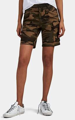 VIS Ā VIS Women's Camouflage Cotton Cargo Shorts - Green Camo