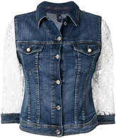 Liu Jo lace-sleeved denim jacket